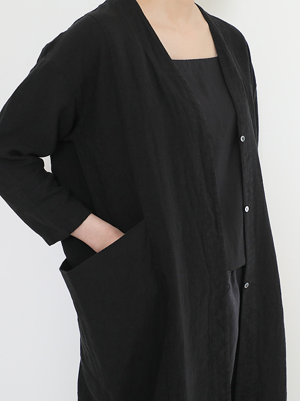 linen drop pocket robe