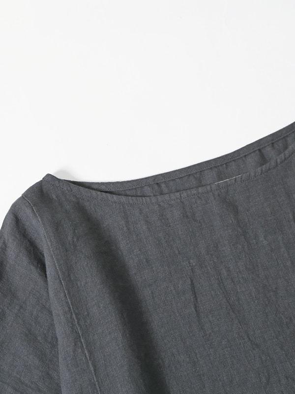 linen drop pocket one-piece