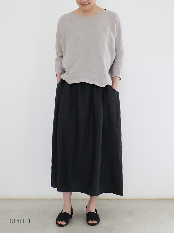 linen dolman pullover