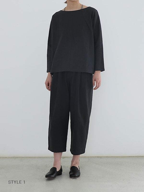 water linen pullover