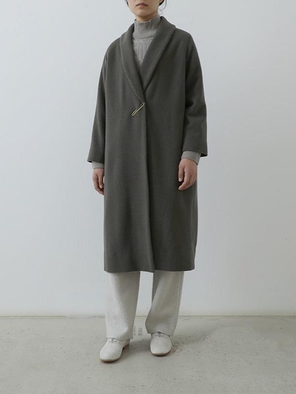 wool angora robe coat