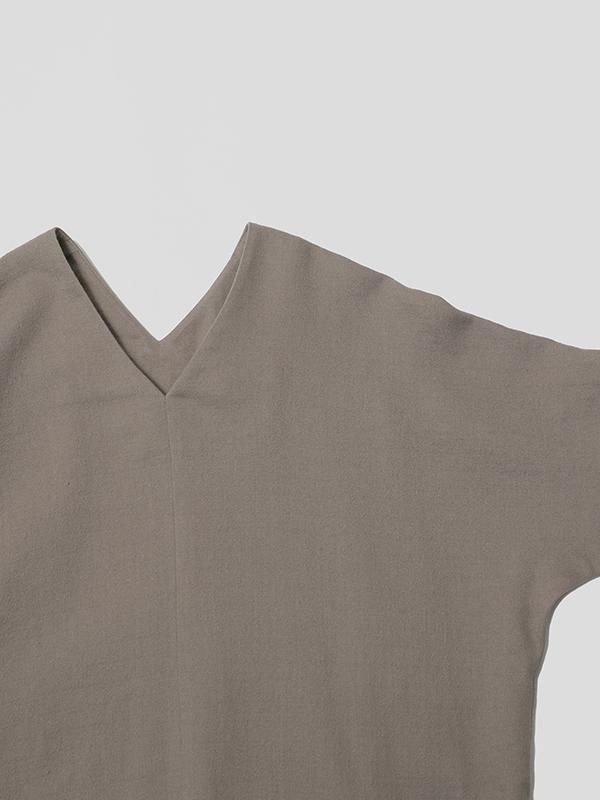 cotton v neck one piece