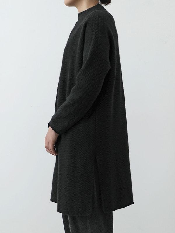 wool angora high necked tunic