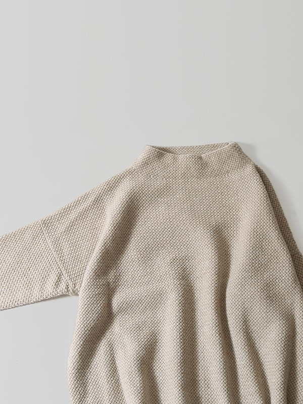 wool angora high necked pullover