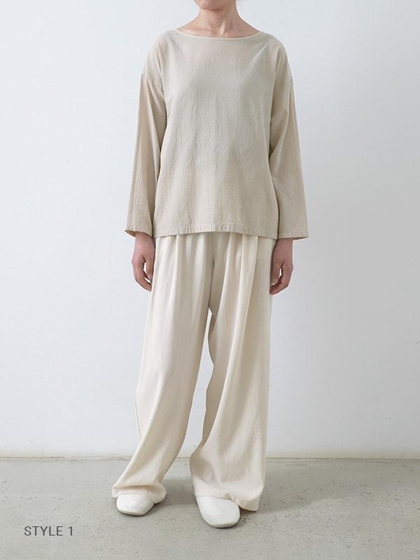 cotton georgette pullover