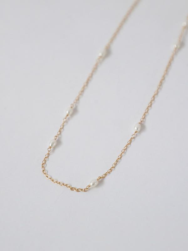random rice pearl necklace