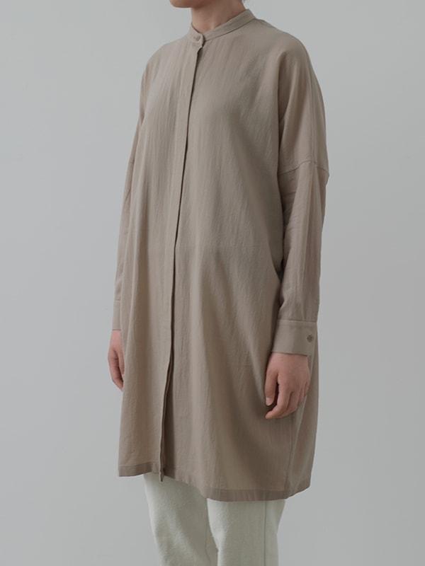 cotton band collar shirts