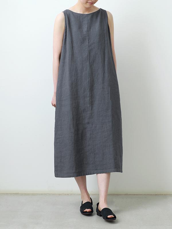 linen sleeveless one-piece