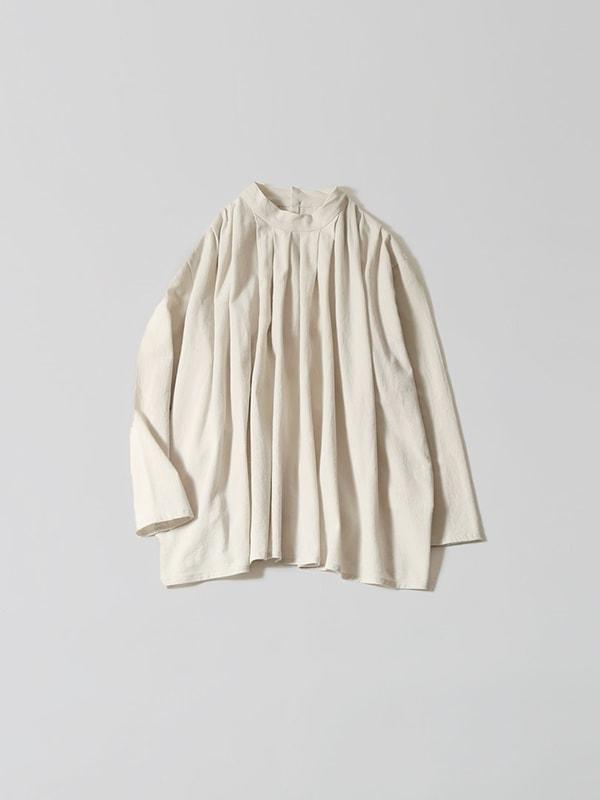 stand collar tuck shirts
