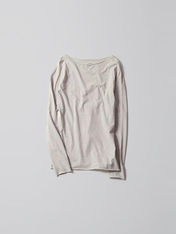 cotton cut&sew boat neck pullover