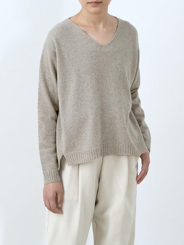 wool V neck pullover
