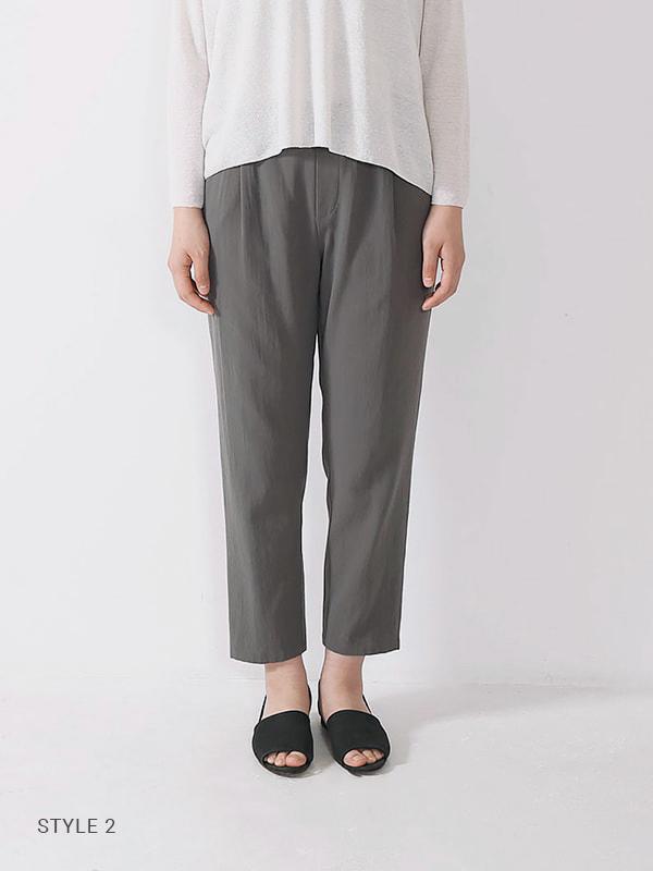 cotton double tuck pants