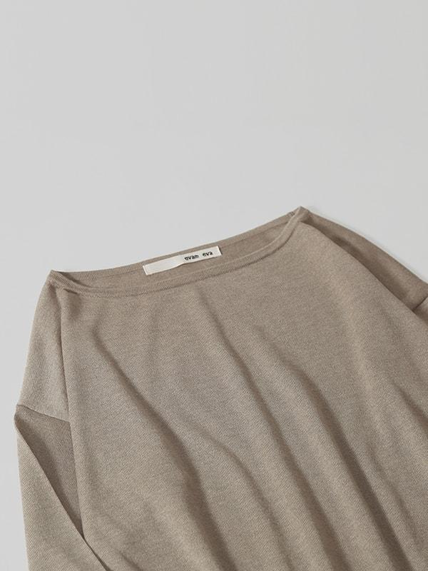 silk cashmere boat neck pullover