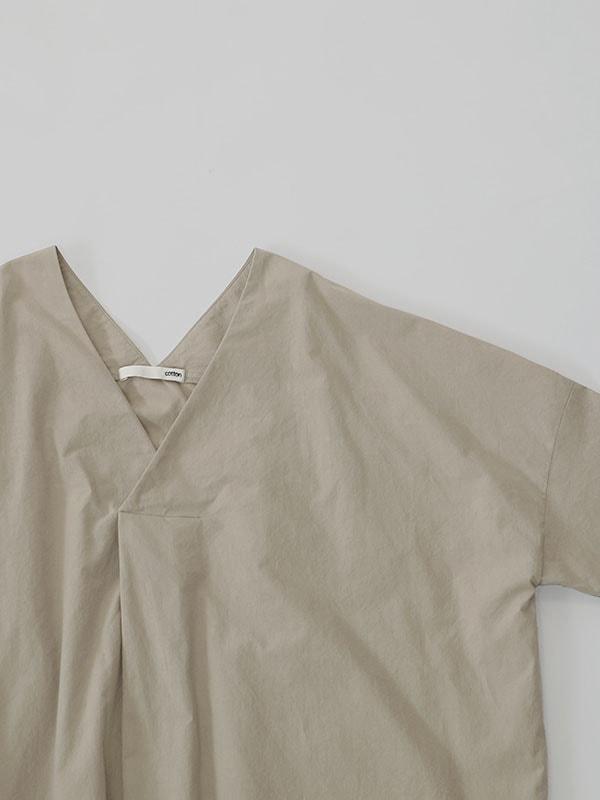 cotton V neck pullover