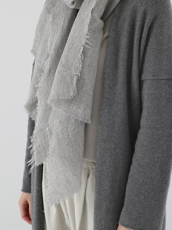 linen cashmere diagonal stole