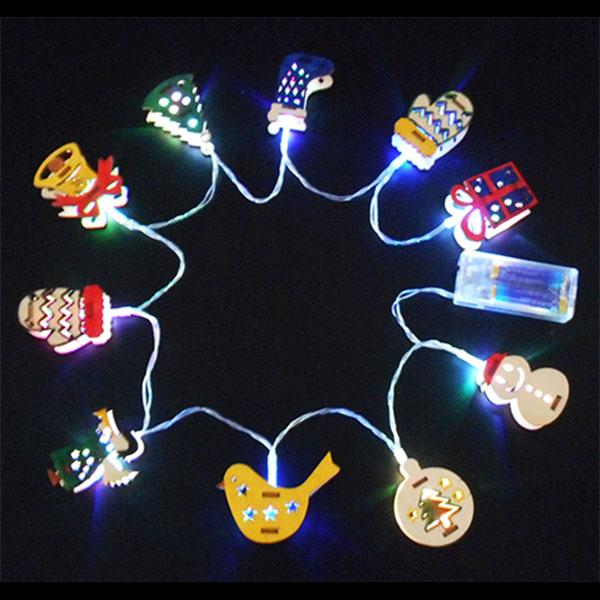 LEDクリスマスオーナメント作り