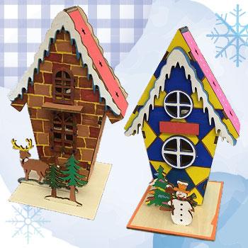 木製クリスマスハウス作り【スリム】