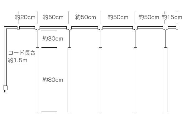 LEDフローイングライト 【シャンパンゴールド】5本セット
