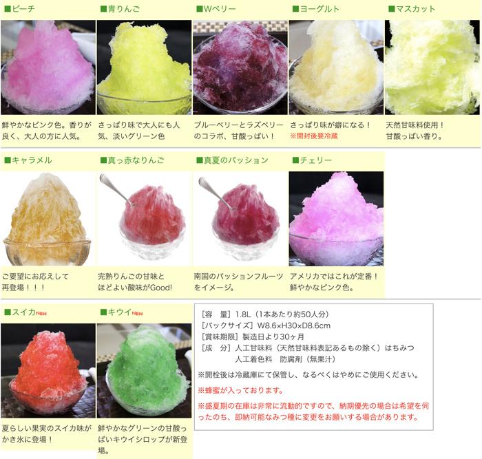 かき氷材料  氷みつ(RGタイプ・1.8L)単品