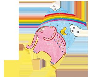 デザイン凧作り 100名様用パッケージセット(角凧・やっこ凧各50個)