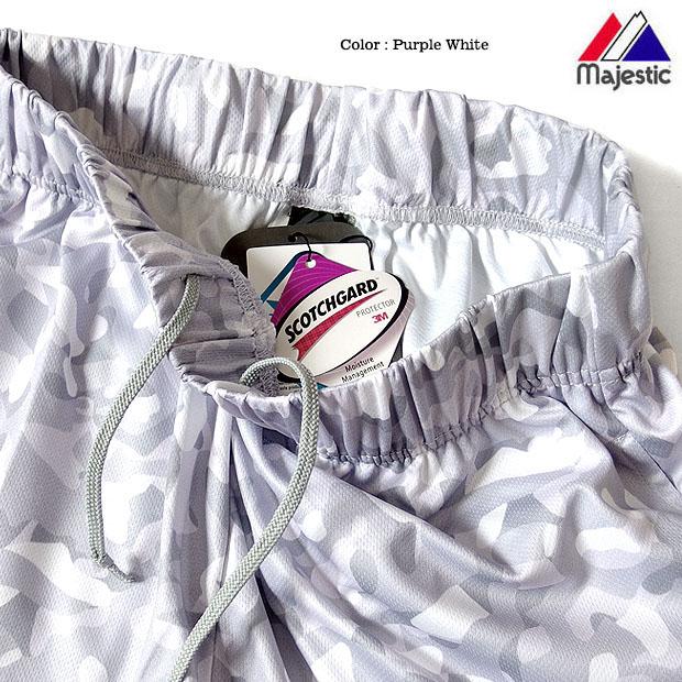Majestic マジェスティック カモフラ 迷彩 ショートパンツ ストリート ダンス 衣装 メンズ ハーフパンツ ニューヨークヤンキース メッシュ