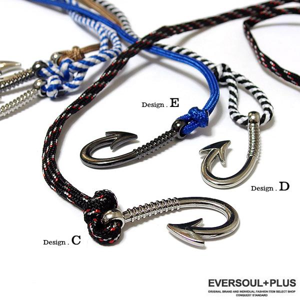 EVERSOUL PLUS SELECT ラップブレスレット メンズ レディース ブレスレット ブラス 真鍮 釣り針 アクセサリー