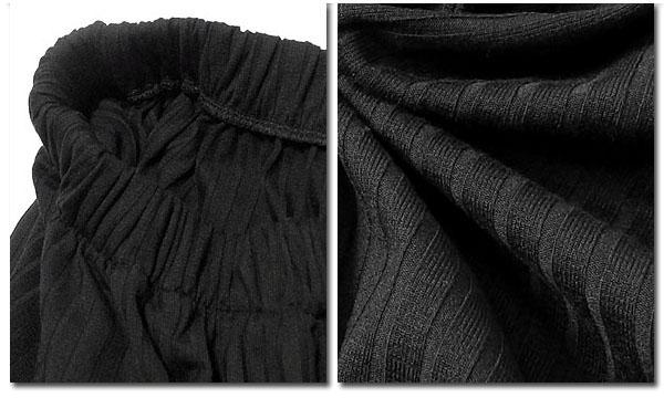 EVERSOUL ワイドパンツ メンズ ガウチョパンツ 七分丈 7分丈 バギーパンツ ブラック 黒 スカンツ 針抜きテレコ 春 夏 サマーワイドパンツ ビジュアル系 モード