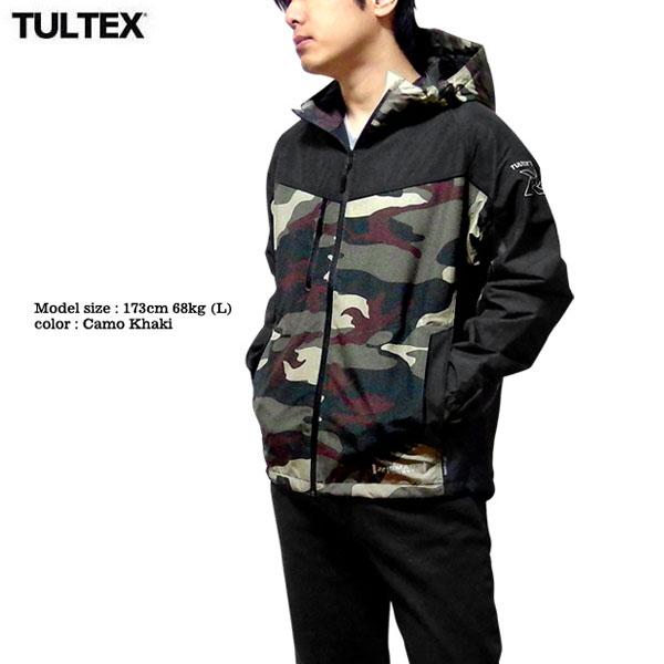 TULTEX 中綿ジャケット アウター メンズ ジップパーカー ジャンパー マウンテンパーカー 暖かい アウトドア 釣り 防水 大きいサイズ 3L
