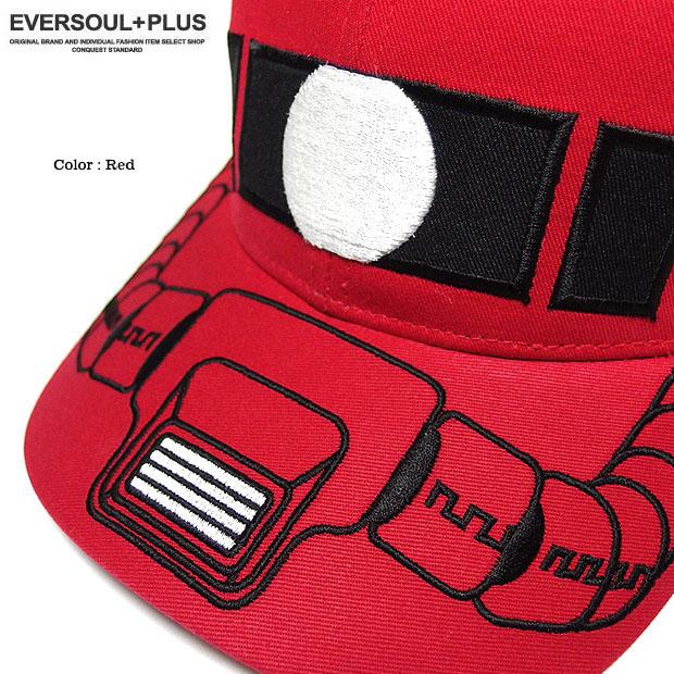 機動戦士ガンダム シャア専用 ザク 帽子 ストリートキャップ メンズ ベースボールキャップ 刺繍 ダンス ベントブリム 原宿系