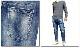 EVERSOUL PLUS SELECT クロップドジーンズ クロップド  デニム ジーンズ メンズ ジーパ ン ボトムス パンツ ストレート  ジーンズ ブルー
