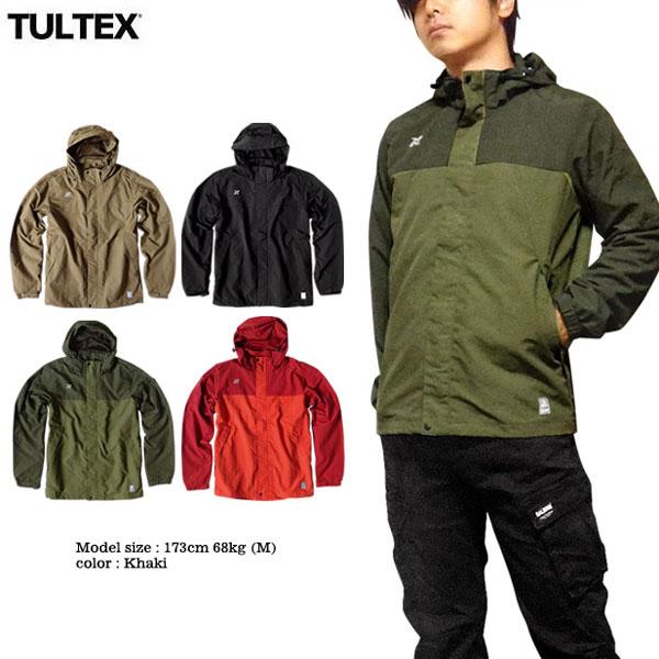TULTEX マウンテンパーカー メンズ 撥水加工 ブルゾン ジャケット アウトドア 春 秋 アウター ブラック 黒 レッド XXL 3L