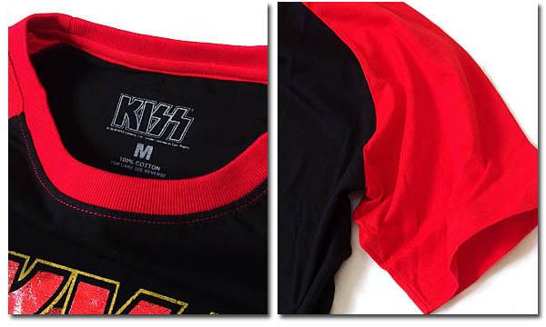 KISS キッス Tシャツ メンズ バンド ロック ラグランスリーブ グッズ ロゴ 夏フェス キス