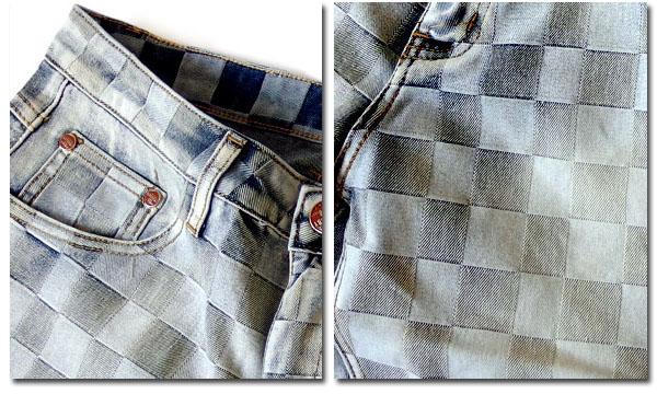 DIECOMBY ハーフパンツ メンズ 五分丈 5 分丈 デニム ショートパンツ お しゃれ 厚手 デニムショートパン ツ イントレチャート