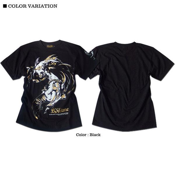 EVERSOUL Anarchist JAPAN Tシャツ メンズ 和柄 ガールプリント 女の子柄 キャラクター ホワイト 白 ラメ ブラック 黒 tシャツ
