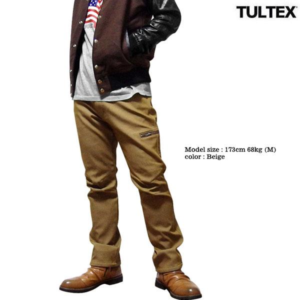 TULTEX カーゴパンツ フリース裏地 メンズ 暖かい ストレッチ カーゴポケット 冬 アウトドア ワークパンツ 大きいサイズ 3L 暖パン ネイビー カーキ