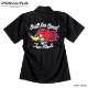 BILLY EIGHT ワークシャツ ボウリングシャツ ボーリングシャツ ダーツシャツ メンズ バイカー ロック 半袖 ブラック 黒 大きいサイズ XXL 3L