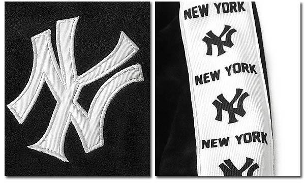 Majestic ニューヨーク ヤンキース ベロア ジップ ブルゾン ジャケット ジャージ メンズ 刺繍 ロゴ ブラック グレー マジェスティック 袖 ライン テープ ライトアウター 秋 冬