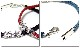EVERSOUL PLUS ブレスレット メンズ アクセサリ ー 静電気防止 静電気 除去 編 み込み シルバー 百合 ブレス ブ ラック レッド ブルー 黒 赤 ア クセ
