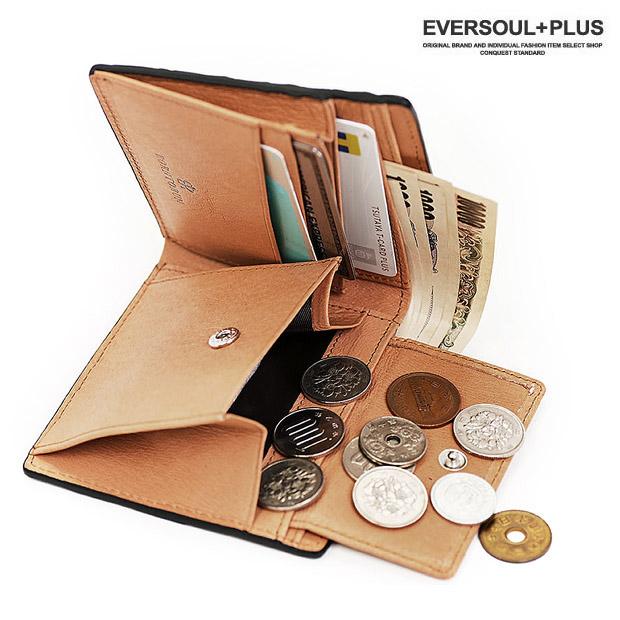 EVERSOUL PLUS SELECT 財布 二つ折り レザー 革 クロコダイル 本革 ワニ革 男性用 紳士 メンズ 小銭入れ