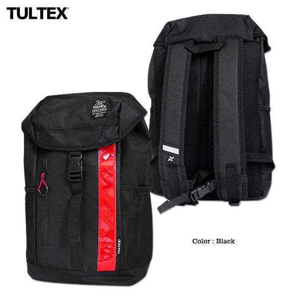 TULTEX リュックサック デイパック シンプル おしゃれ 通勤 通学 学校 スポーツ リフレクター 反射材 ブラック 巾着タイプ