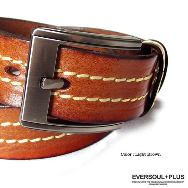 ベルト 本革 レザー メンズ 革 メンズベルト ステッチ 刺繍おしゃれ ビジネス カジュアル ブラック 黒 ブラウン