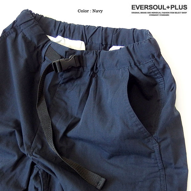EVERSOUL PLUS SELECT ショートパンツ クライミングショーツ メンズ アウトドア ハーフパンツ ベルト クライミングショートパンツ リップストップ 短パン