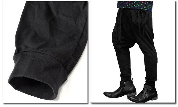 EVERSOUL サルエルパンツ メンズ カーゴ ポケット ブラック 黒 コットン ダンス ヨガ おしゃれ 夏 春 サルエル パンツ ビジュアル系 ルーズシルエット バンド 衣装