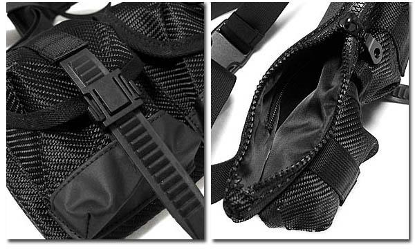 MACKAR ボディバッグ おしゃれ ブラック 黒 かばん ポーチ 3連 ポケット メンズ ウエストバッグ ヒップバッグ 斜め掛け カーボン ミリタリー