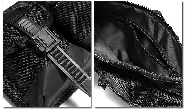 MACKAR ボディバッグ おしゃれ ブラック 黒 かばん ポーチ ファスナー ポケット メンズ ウエストバッグ ヒップバッグ 斜め掛け カーボン ミリタリー