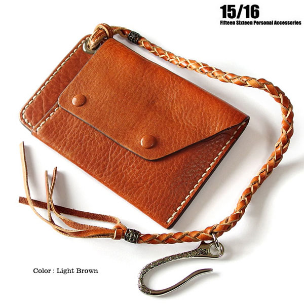 FIFTEEN SIXTEEN 財布 長財布 メンズ レザー 本革 コンパクト ウォレット 革 ウォ レットチェーン 黒 ブラック ブ ラウン