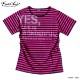 EVERSOUL ボーダー Tシャツ メンズ 日本製 ロゴプリント スプレー ボートネック キレイ目 カジュアル 半袖 夏 シャツ 1cm ピンク