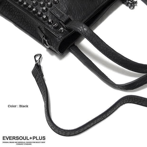 EVERSOUL PLUS SELECT ハンドバッグ レディース メンズ ユニセックス ショルダーバッグ スカル フェイクレザー 2WAY