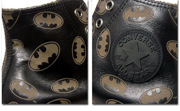 CONVERSE コンバース オールスター バットマン CONVERSE 「LEATHER ALL STAR BM HI」 バットマンコラボハイカットスニーカー