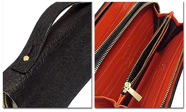 EVERSOUL セカンドバッグ メンズ レザー  本革 牛革 かばん カバン 財布  バッグ シャークスキン 型押し